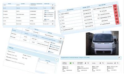 Programa de gestión de personal y vehículos